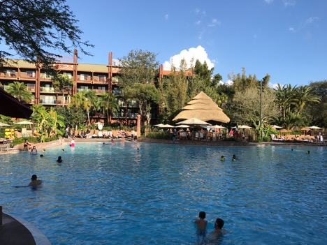 Pool at Animal Kingdom Lodge Hotel