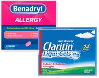 Logo of Benadryl and Claritin