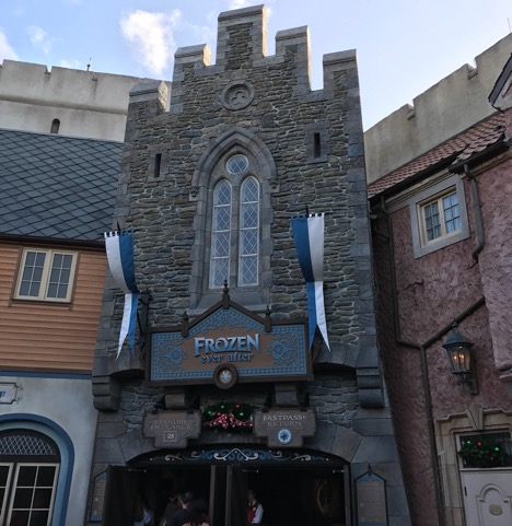 Entrance of Frozen Ever After, Epcot