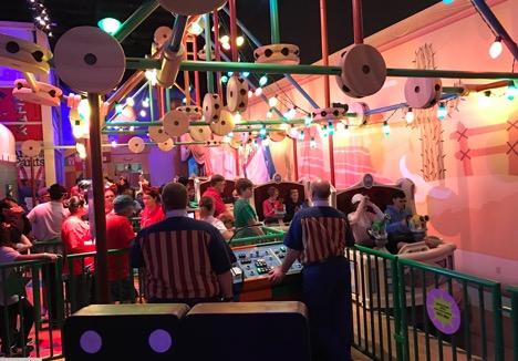 Inside of Toy Story Mania! at Hollywood Studios