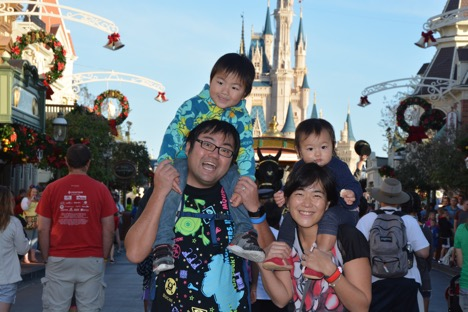 PhotoPass in front of Cinderella Castle at Magic Kingdom