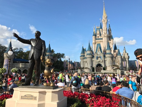 Walt Disney, Mickey and Cinderella Castle at Magic Kingdom