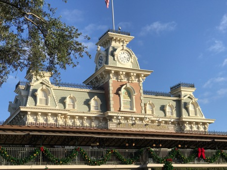 Train Station at the entrance of Magic Kingdom