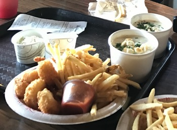 Clam chowder, fish&chips at Columbia Harbour House, Magic Kingdom
