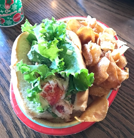 Lobster roll at Columbia Harbour House, Magic Kingdom