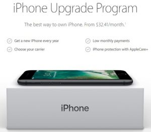 Logo of iPhone Upgrade Program provided by Apple