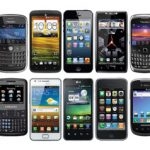 various types of mobile phones