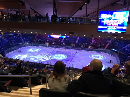 Hockey game at Madison Square Garden