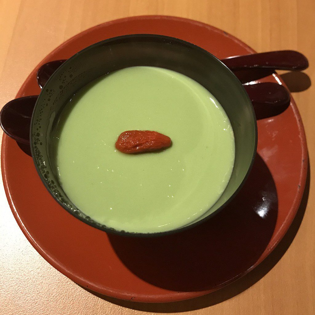 Maccha pudding before Maccha source