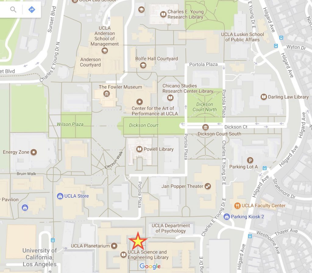 map of UCLA Science and Engineering