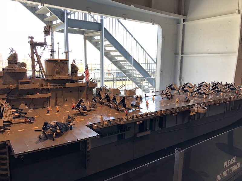 Lego replica at Intrepid, New York